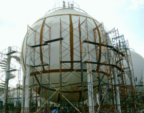 SPHERICAL TANK INSPECTED BY PHASED ARRAY METHOD
